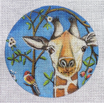 "Curious Giraffe 4.5"" in diameter 18 Mesh By Catherine Nolin Unique New Zealand Designs New Destination Dallas"