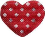HE-602 Associated Talents Red Polka Dot Heart