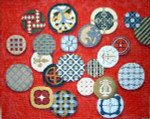 F-0901 Associated Talents Sues Buttons Red Rectangle