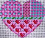 HE-808 Pink Patterns Heart Associated Talents