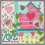 AP2873 Birdhouse Love Alice Peterson  9.5 x 9.5 13 mesh