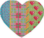 HE-818 Lime Lattice/Hearts/Plaid Heart Associated Talents