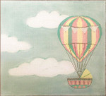 AP3701 Hot Air Balloon Birth Announcement Alice Peterson  13 Mesh 11 x 10