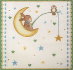 AP3706 Bunny Fishing for a Star Alice Peterson 13 Mesh 11 x 9.5