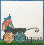 AP3707 Colorful Baby Carriage Alice Peterson 13 Mesh 10.75 x 11