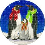 X300 3 Penguins Ornament Alice Peterson 4 x 4 18 mesh
