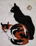 A20 Steinlen Cats 8 x 10  18 Mesh Changing Women Designs