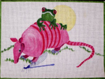 A49 Armadillo and Frog 12 x 8.5  18 Mesh Changing Women Designs