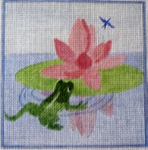 A53  Water Lily 6 x 6 18 Mesh Changing Women Designs
