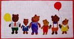 A9 Rainbow Bears 11 x 6 18 Mesh Changing Women Designs