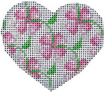 HE-635 Pink Floral Heart Associated Talents