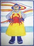 B25 Crab Fisherman 7.5 x 5.5  18 Mesh Changing Women Designs