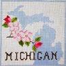 FL106 Michigan Cherry Blossoms 7.5 x 7.5 18 Mesh Changing Women Designs
