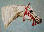 A11 Arabian White Horse 11 x 8 18 Mesh Changing Women Designs