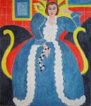 CWD-M159 Matisse Blue Dress 9.5x11  18 Mesh Changing Women Designs