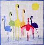 A27 Rainbow Flamingos 8 x8  18 Mesh Changing Women Designs
