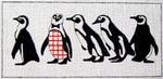 A14 Penguins  9.5 x 4.5 18 Mesh Changing Women Designs