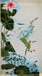 A28* Great Egret and Waterlillies 13 x 23 18 Mesh Changing Women Designs