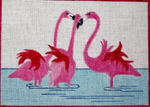 A44 Three Flamingo 8.75 x 6.25 18 Mesh Changing Women Designs