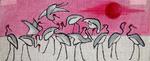 A58 Sunset Cranes 11x4.5 18 Mesh Changing Women Designs