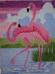 A60*Sunset Flamingos* 12 x 15 13 Mesh Changing Women Designs