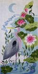 A67 Great Blue Heron 9 x 18 18 Mesh Changing Women Designs