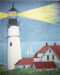 B11cwd Maine Glowing Lighthouse 8.25 x 10.5 18 Mesh Changing Women Designs