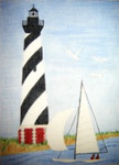 B16cwd Cape Hatteras Lighthouse 8 x 11 18 Mesh Changing Women Designs