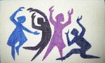B35cwd Dancing People  8.5 x 5 18 Mesh Changing Women Designs