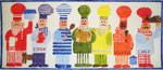 B40 Rainbow Chefs 15 x 6 18 Mesh Changing Women Designs