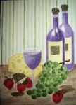 F11 Wine and Grapes 8.25 x 11.5  18 Mesh Changing Women Designs