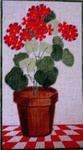 FL104 Pot of Geraniums 11x6.5 18 Mesh Changing Women Designs