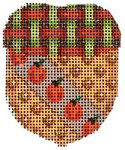 EM-306 Associated Talents Diagonal Pumpkin/Woven Cap Mini Acorn
