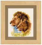 PNV143773Counted Cross Stitch Kit Lion couple aida  Vervaco