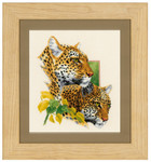 PNV143772Counted Cross Stitch Kit Leopard couple aida   Vervaco