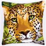 PNV144823Cross Stitch Cushion Leopard Vervaco