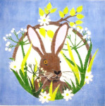 C-550h Hare (bunny) 12 x12  18 Mesh The Meredith Collection