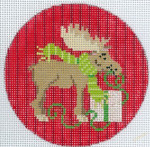 "XO-173c  Christmoose  5"" Round 13 Mesh The Meredith Collection"