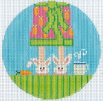 """XO-190c Morning Bunny Feet  5"""" Round 13 Mesh The Meredith Collection"""
