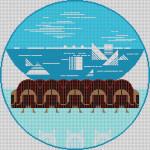 Arctic Circle Charley Harper HC-A128 18 Mesh 141⁄2 x 141⁄2 Treglown Designs