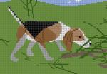 Beagle Charley Harper HC-B166 13 Mesh 8 x 51⁄2 Treglown Designs