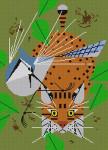 Blue Jay Patrol Charley Harper  HC-B181 13 Mesh 11 x 151⁄4 Treglown Designs