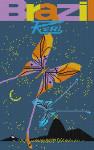 Brazil Poster Charley Harper HC-B206  13 Mesh 9 x 141⁄4 Treglown Designs