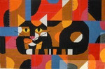 Charley Harper  Crazy Cat CH-C083 13 Mesh 16 x 10 Treglown Designs