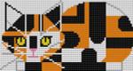 Charley Harper Calico Cat CH-C089 18 Mesh 31⁄2 x 61⁄2 Treglown Designs