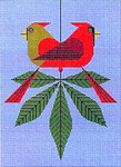 Charley Harper Cardinals Consorting HC-C172 13 Mesh 91⁄2 x 13 Treglown Designs