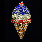 ICE CREAM CONE PATRIOTIC Needle Minder Big Buddy The Meredith Collection ( Formerly Elizabeth Turner Collection)