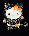 Hello Halloween Kitty Needle Minder Big Buddy The Meredith Collection ( Formerly Elizabeth Turner Collection)