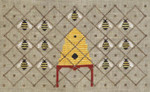 17-2048 ATO-XS16156 HONEY BEE REVERIE (CS) 142w x 82h Artful Offerings