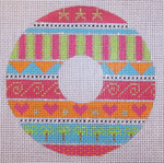 "CH107F TP-Palm Tree Wreath 4"" dia EyeCandy Needleart"